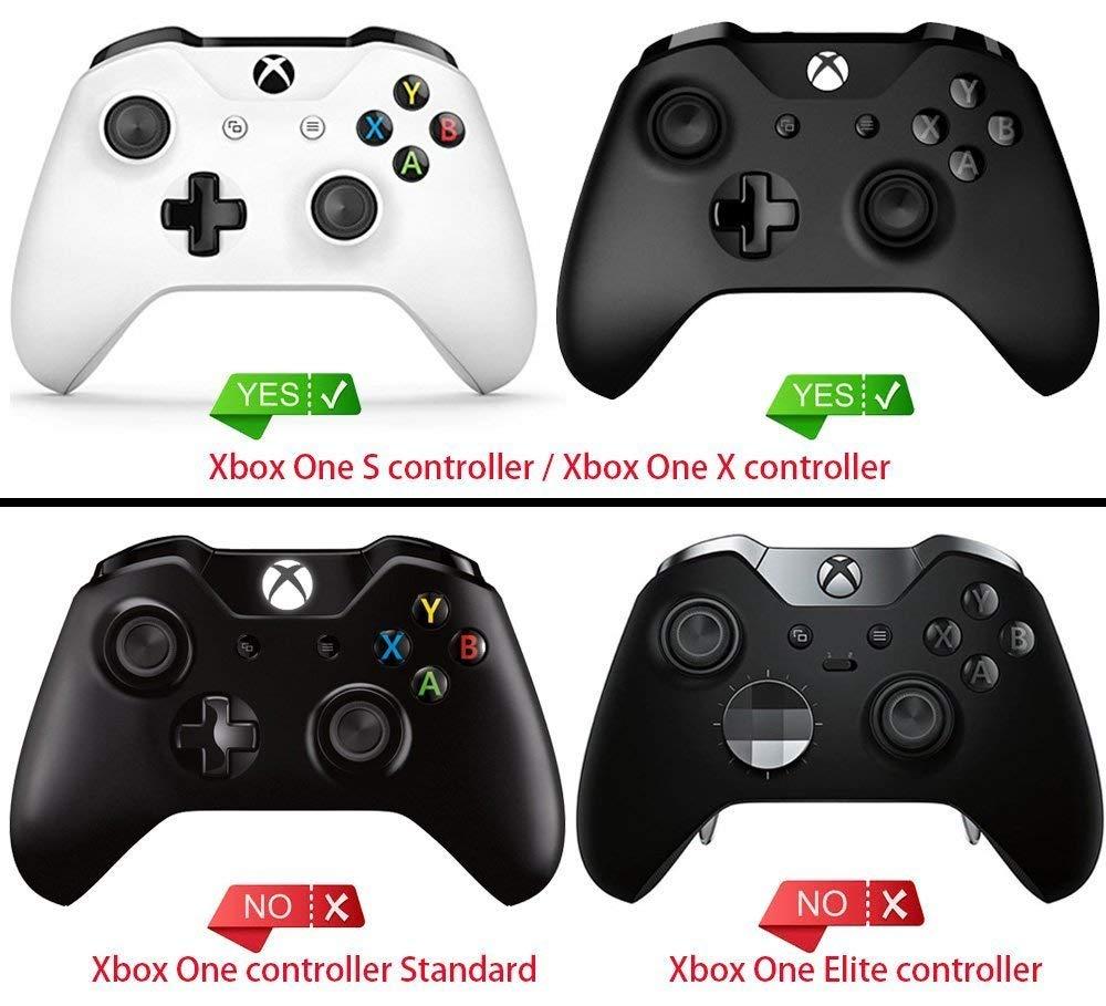 Custom Textured Red / Black Panels For Xbox Controllers - Non-Slip Slide  Rails with 3D Splashing